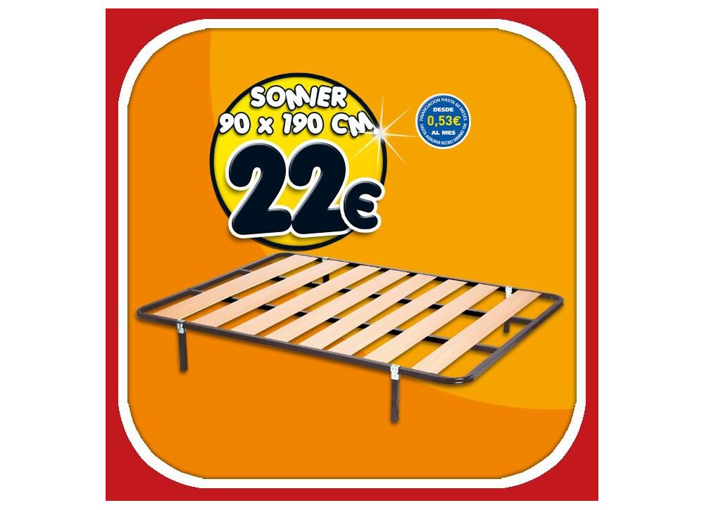 Comprar Somier Sin Patas, 90 X 190 | Precio Colchones Tuco.net