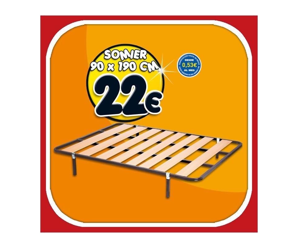 Comprar somier sin patas 90 x 190 precio colchones for Patas para somier