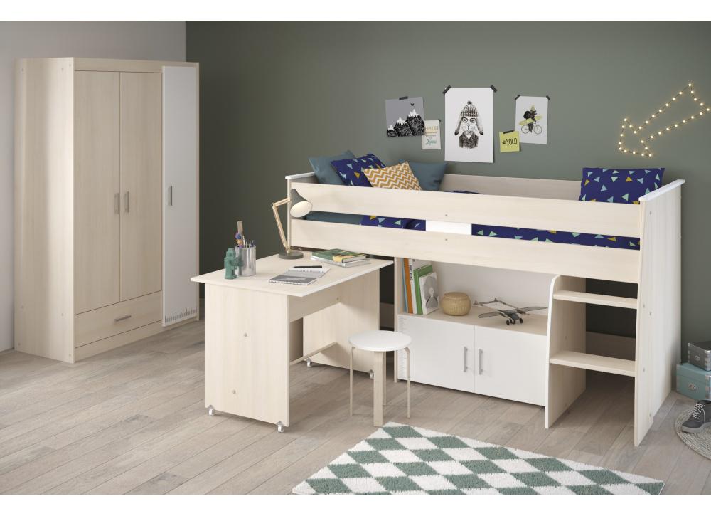 Cama nido con cajones y escritorio ARLY