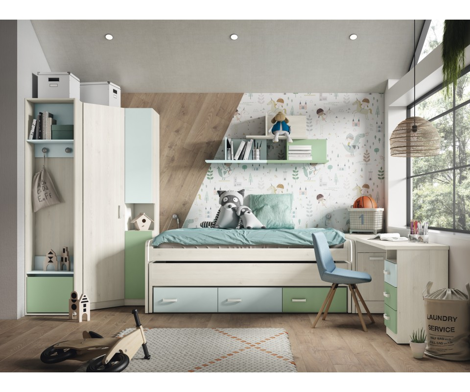 Comprar cama nido con cajones baratos precio camas - Cama nido con cajones ...