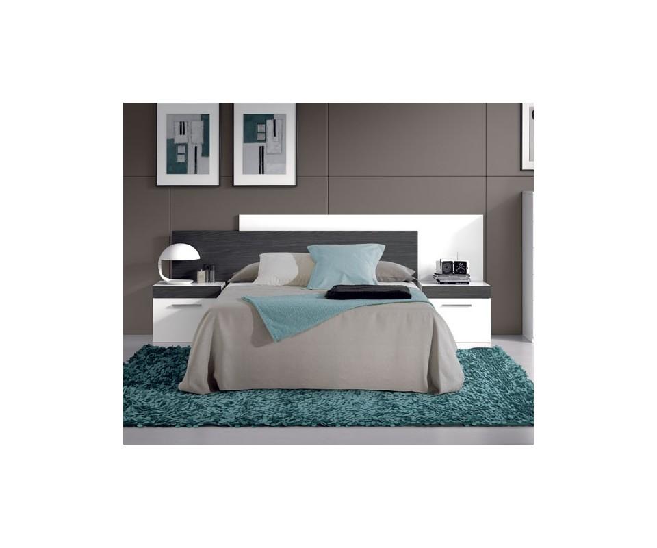 Comprar dormitorio moderno blanco y negro oferta precio - Tuco dormitorios ...