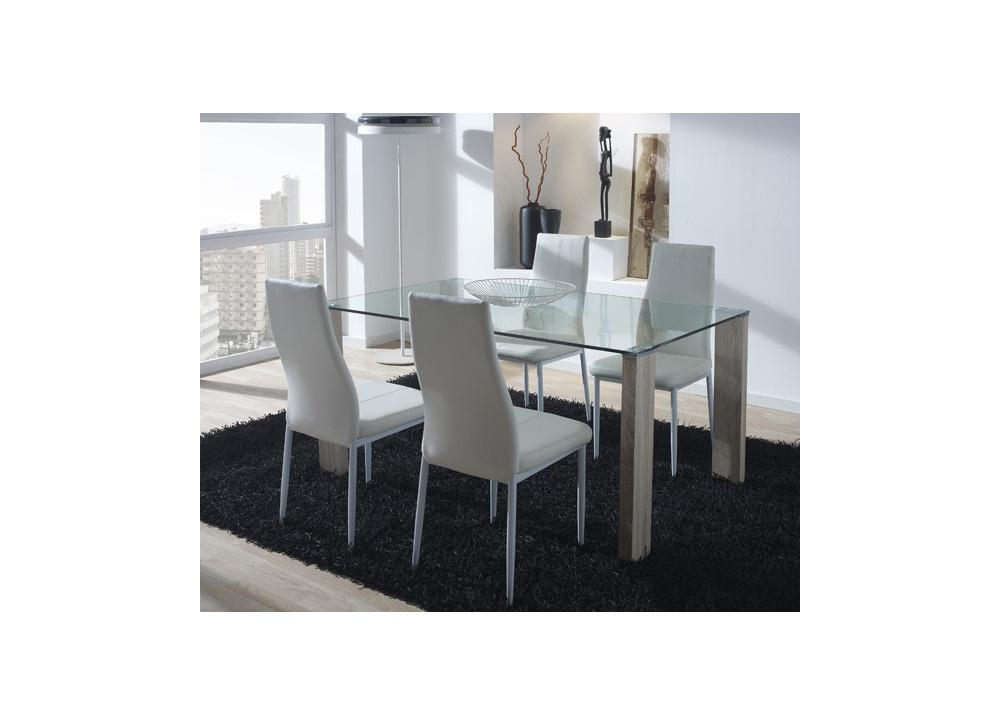 Comprar mesa comedor rectangular precio mesas y sillas for Mesa cristal tuco